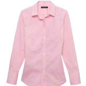Banana Republic fitted non-iron blouse. Pink 12